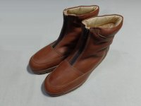 80'S Hush Puppies ZIP UP BOOTS WITH MOUTON LINER(ハッシュパピー 本革×ムートン裏地付きジップアップブーツ)MADE IN USA(US10.5)