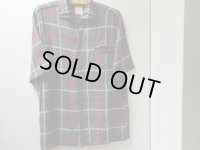 50'S SIR GUY S/S CHECK BOX SHIRTS(M)