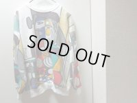 80'S PABLO PICASSO FULL PRINT SWEAT(パブロピカソ総柄スウェット)MADE IN USA(L)