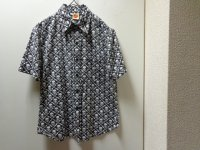 90'S Skins Octopus SKULL  REPEATING PATTERNE  S/S COTTON SHIRTS(スカル総柄半袖コットンシャツ)(S)