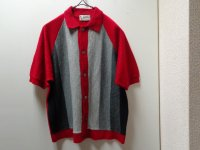 60'S CAMPUS STRIPE S/S KNIT SHIRTS(ストライプ柄半袖ニットシャツ)MADE IN USA(M)