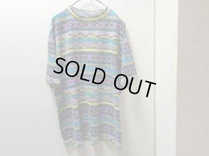 画像1: 80'S LIFE'S A BEACH REPEATING PATTERNE T-SHIRTS(ライフズアビーチ総柄Tシャツ)MADE IN USA(M)