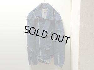 画像1: 90'S Calvin Klein Jeans DOUBLE DENIM RIDERS JACKET (カルバンクライン ダブル仕様デニムライダースジャケット)(XL)