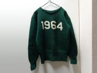 60'S(※50'S) UNKNOWN 1964 LETTERED BOAT-NECK SWEATER (1964 レタード ボートネック仕様セーター)(M位)
