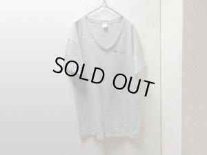 画像1: 80'S Champion 88/12 GRAY V-NECK T-SHIRTS(チャンピオン 灰杢VネックTシャツ)MADE IN USA (L)