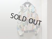 80'S Grarhic JACKETS MUSICIAN LIVE TICKETS REPEATING PATTERNE PAPER JACKET(音楽家ライブチケット総柄ペーパージャケット)DEAD STOCK(XL)