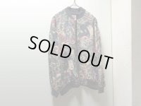 90'S REAL CLOTHES SILK JAPANESE REPEATING PATTERNE PAPER JACKET(和総柄仕様シルクジャケット)(S)