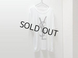 画像1: 00'S YVES SAINT LAURENT  FLOCKY LOGO T-SHIRTS (イヴサンローラン  フロッキーロゴ Tシャツ)(M位)