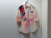 80'S JOBBERS AIR BRUSH + PATCH S/S DESIGN COTTON SHIRTS(エアブラシ + パッチ仕様半袖デザインコットンシャツ)(M)
