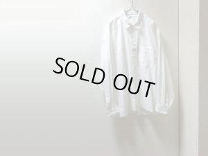 画像1: 90'S MARITHE FRANCOIS GIRBAUD STRIPE PATTREN L/S COTTON SHIRTS(マリテ フランソワ ジルボー 織りストライプ柄長袖コットンシャツ)(M)