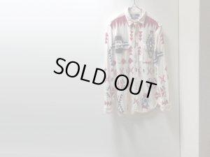 画像1: 90'S RALPH LAUREN NATIVE PATTERN L/S CHAMOIS CLOTH SHIRTS (ラルフローレン ネイティブ柄 長袖シャモアクロスシャツ)MADE IN USA(L)