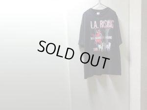 画像1: 11'S RAGE AGAINST THE MACHINE L.A . RISING T-SHIRTS(2011年製 レイジ アゲインスト ザ マシーン L.A . ライジング Tシャツ)USA COMPONENTS(2XL)