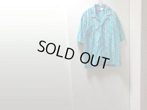 画像1: 90'S NIKE REPEATING PATTERN S/S OPEN COLLAR COTTON SHIRTS(ナイキ 総柄仕様 半袖開襟コットンシャツ)銀タグ(L)