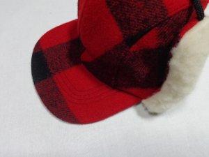 画像4: 90'S FILSON BLOCK CHECK PATTERN WOOL EAR FLAP CAP(USA製 フィルソン ブロックチェック柄 ウール イヤーフラップ キャップ)DEAD STOCK(M)