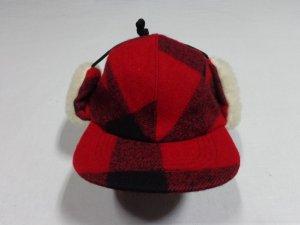 画像3: 90'S FILSON BLOCK CHECK PATTERN WOOL EAR FLAP CAP(USA製 フィルソン ブロックチェック柄 ウール イヤーフラップ キャップ)DEAD STOCK(M)