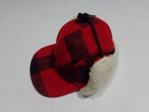 画像1: 90'S FILSON BLOCK CHECK PATTERN WOOL EAR FLAP CAP(USA製 フィルソン ブロックチェック柄 ウール イヤーフラップ キャップ)DEAD STOCK(M)