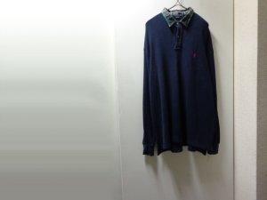 画像1: 90'S RALPH LAUREN WAFFLE THERMAL L/S POLO SHIRTS(ラルフローレン ワッフルサーマル素材 長袖 ポロシャツ)(L)