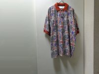 90'S Reebok GREG NORMAN COLLECTION REPEATING PATTERNE S/S POLO SHIRTS(リーボック グレッグノーマン コレクション 総柄仕様 半袖 ポロシャツ)DEAD STOCK(L)