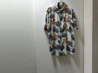90〜00'S OLD STUSSY FLOWER PATTERN S/S RAYON × COTTON SHIRTS(オールド ステューシー 花柄 半袖 レーヨン × コットン混紡 シャツ)MADE IN USA(XL)